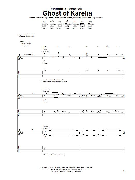 Ghost Of Karelia sheet music