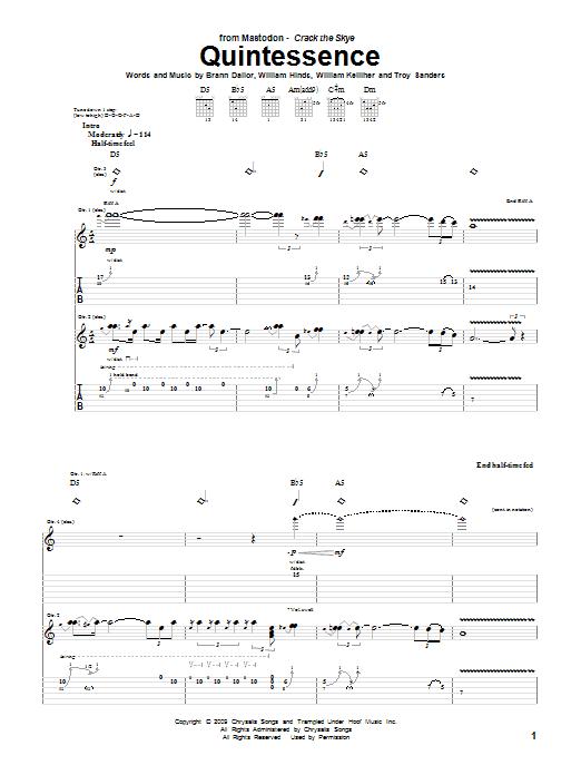 Quintessence sheet music