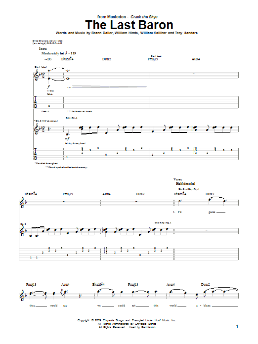 The Last Baron sheet music