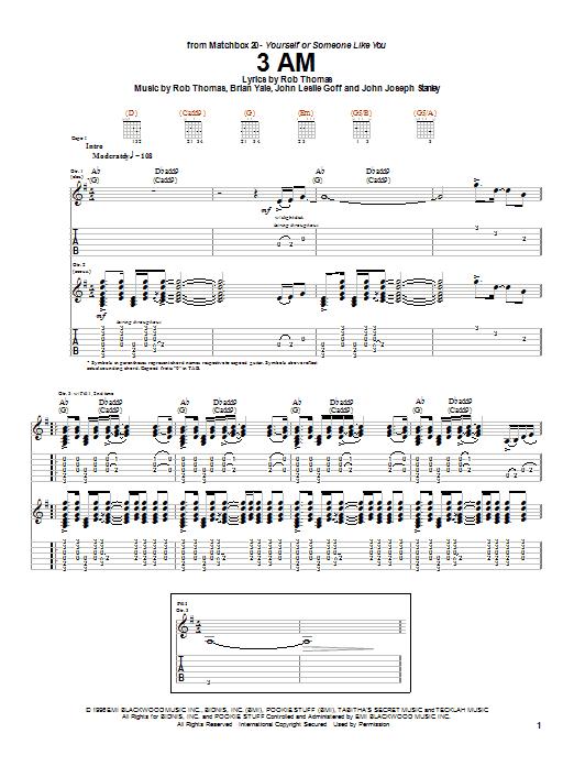 3 AM sheet music