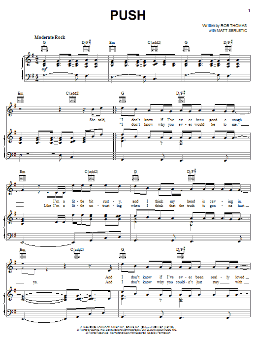 Push sheet music