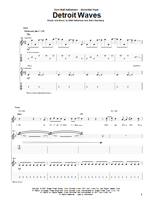 Detroit Waves sheet music