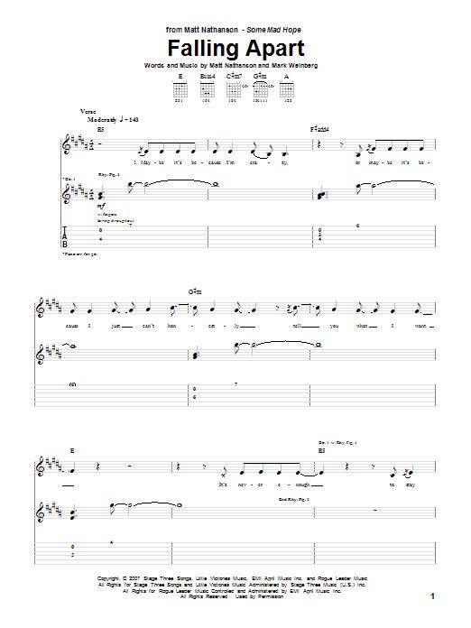 Falling Apart sheet music