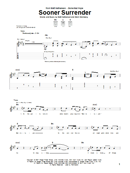 Sooner Surrender sheet music