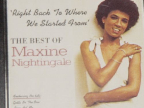 Maxine Nightingale, Right Back Where We Started From, Piano, Vocal & Guitar (Right-Hand Melody)