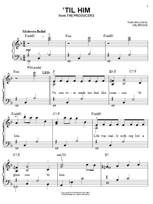 'Til Him sheet music