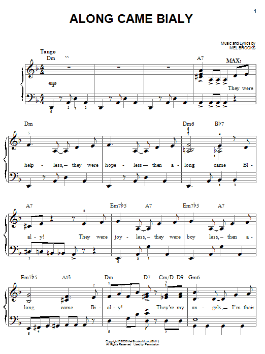Along Came Bialy sheet music