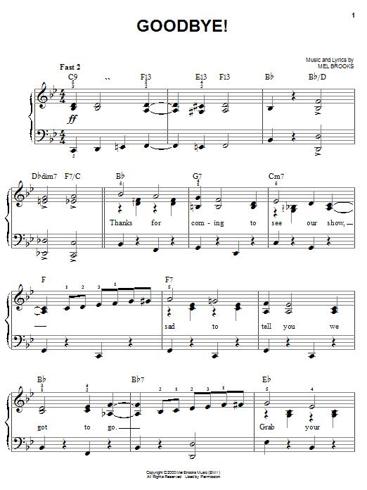 Goodbye! sheet music