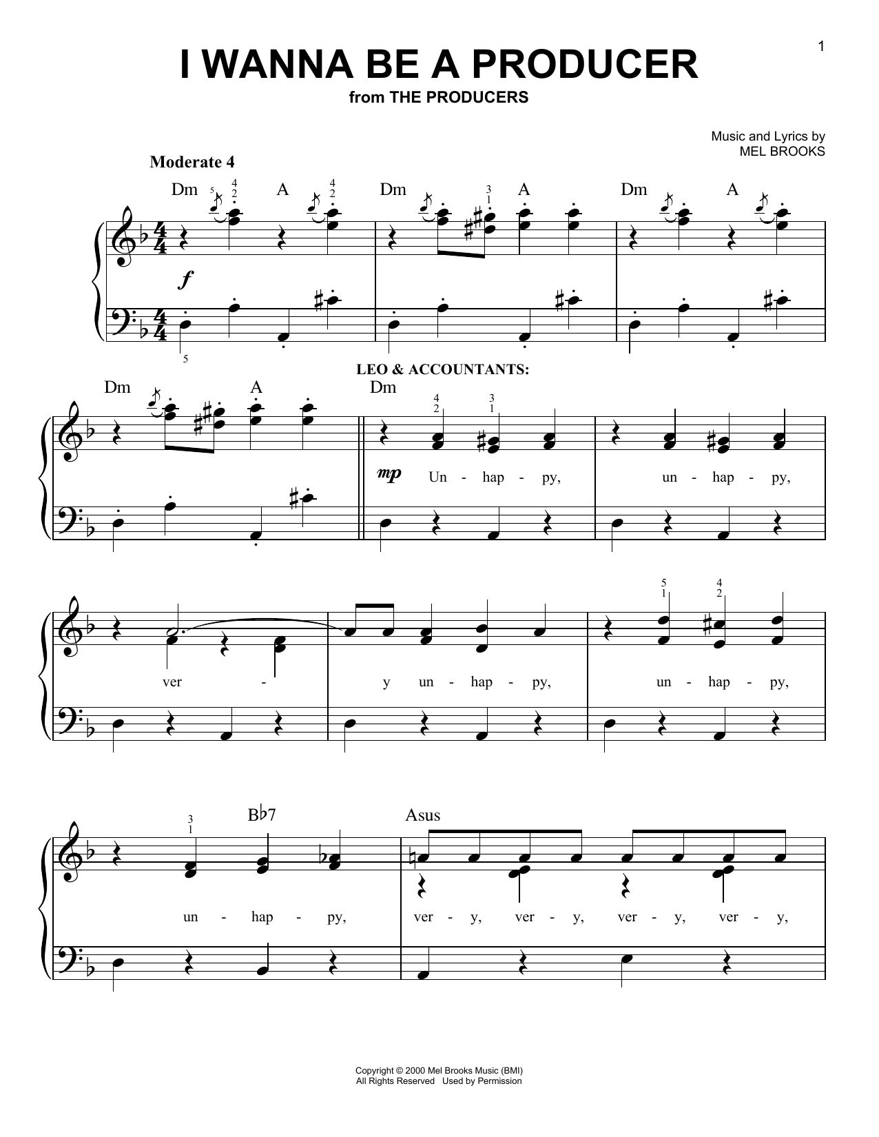 I Wanna Be A Producer sheet music