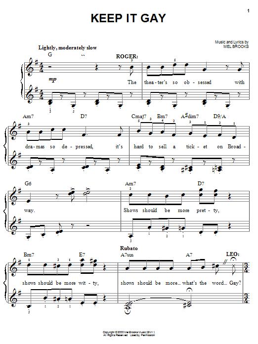Keep It Gay sheet music