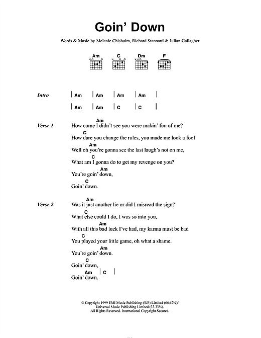 Goin' Down sheet music