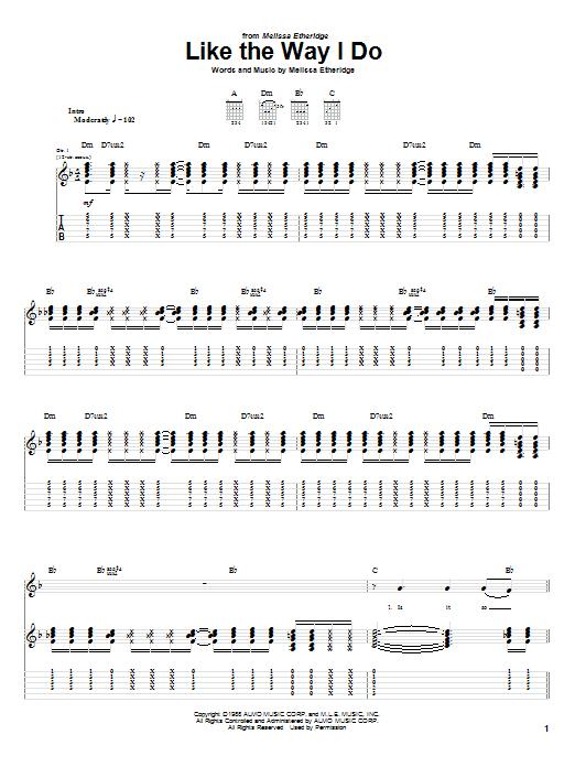 Like The Way I Do sheet music