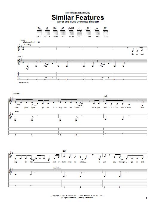 Similar Features sheet music