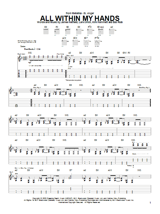 All Within My Hands sheet music
