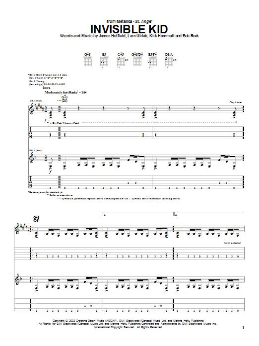 Invisible Kid sheet music