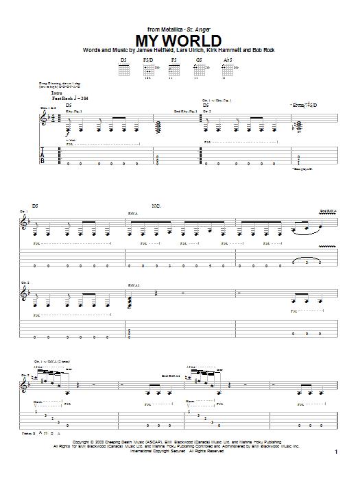 My World sheet music