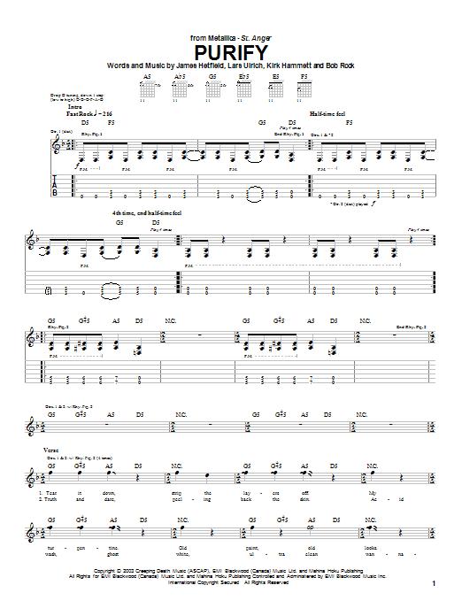 Purify sheet music