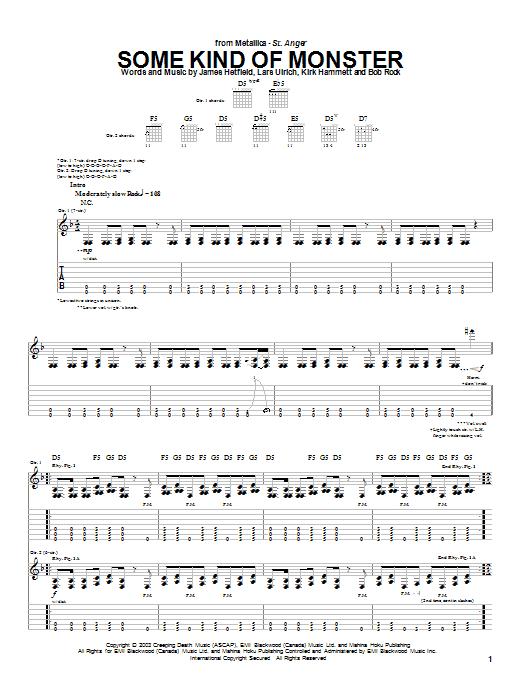 Some Kind Of Monster sheet music