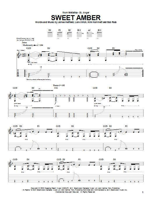 Sweet Amber sheet music