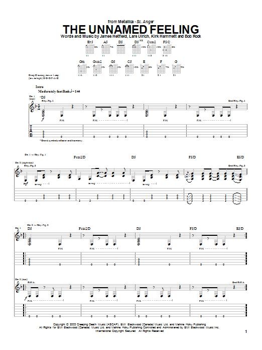The Unnamed Feeling sheet music