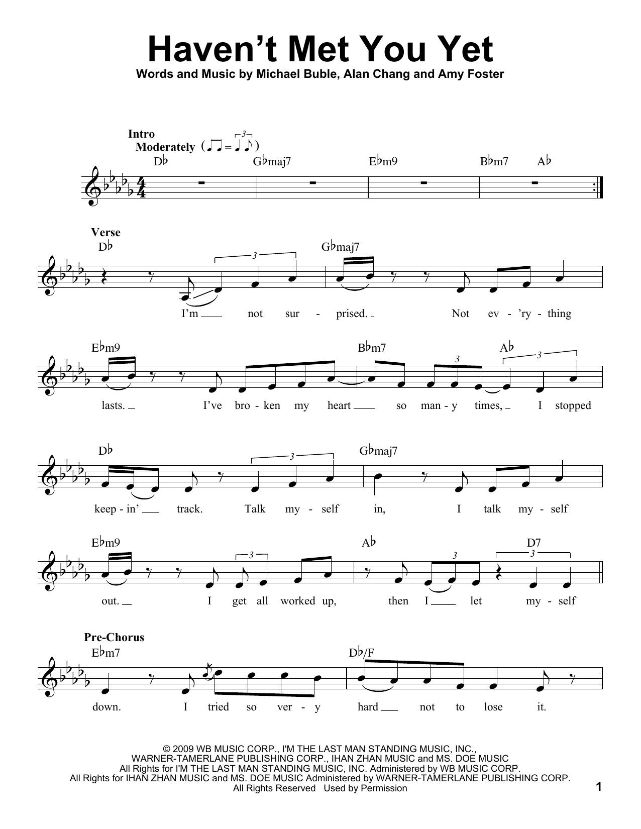 Haven't Met You Yet sheet music