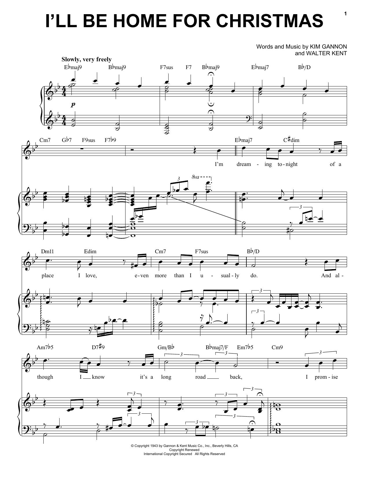 I'll Be Home For Christmas sheet music