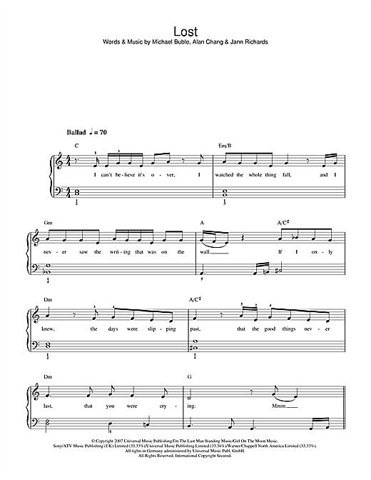 Lost sheet music