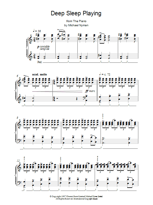 Deep Sleep Playing sheet music