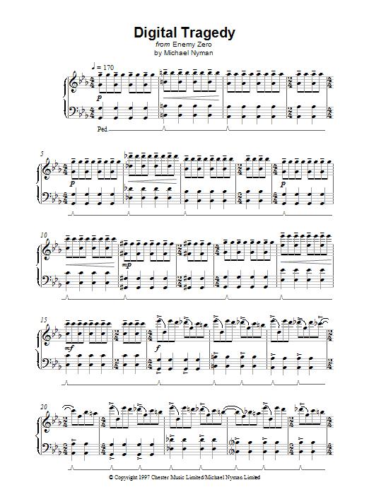 Digital Tragedy sheet music