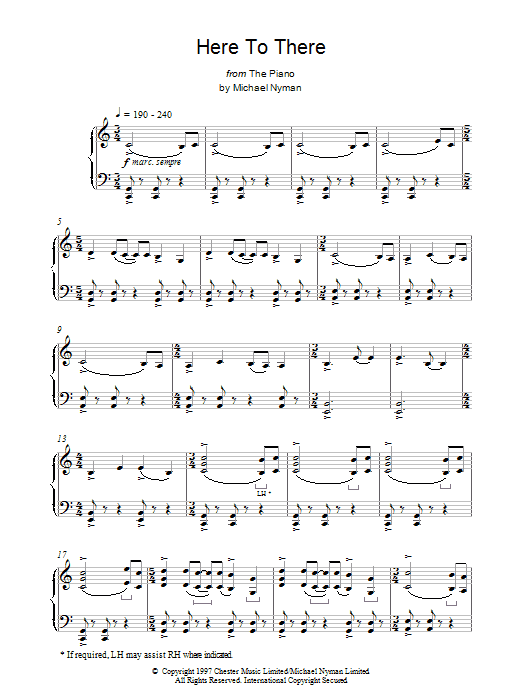 Here To There sheet music