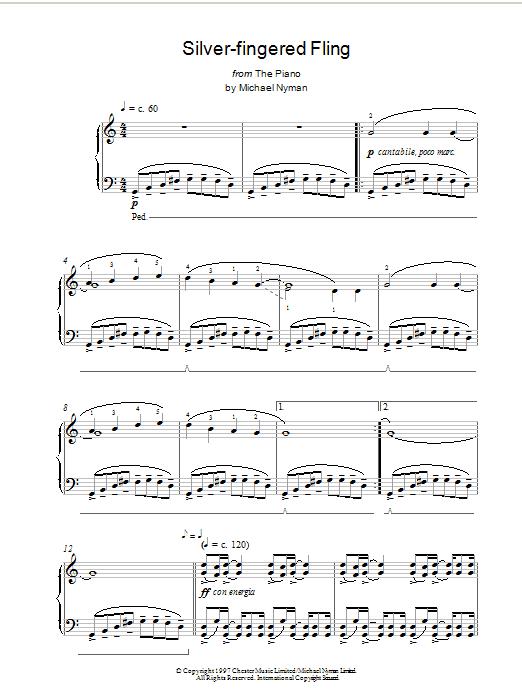 Silver-Fingered Fling sheet music