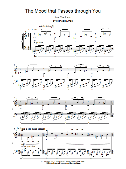 The Mood That Passes Through You sheet music