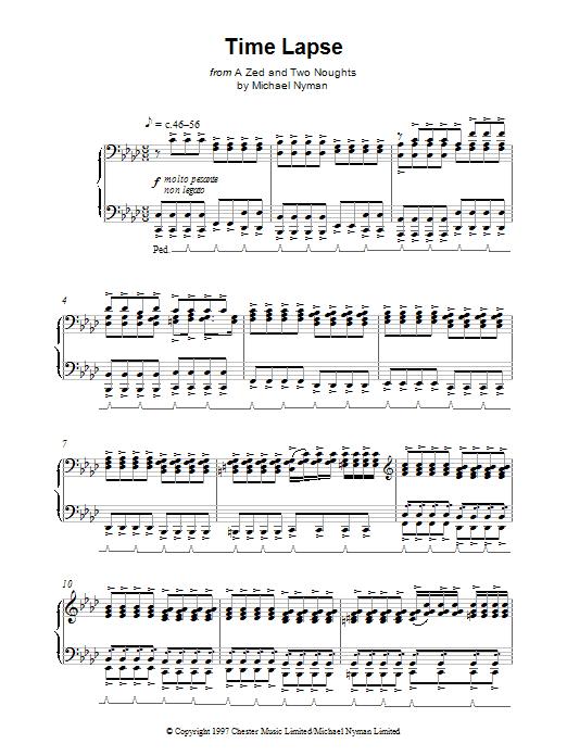 Time Lapse sheet music