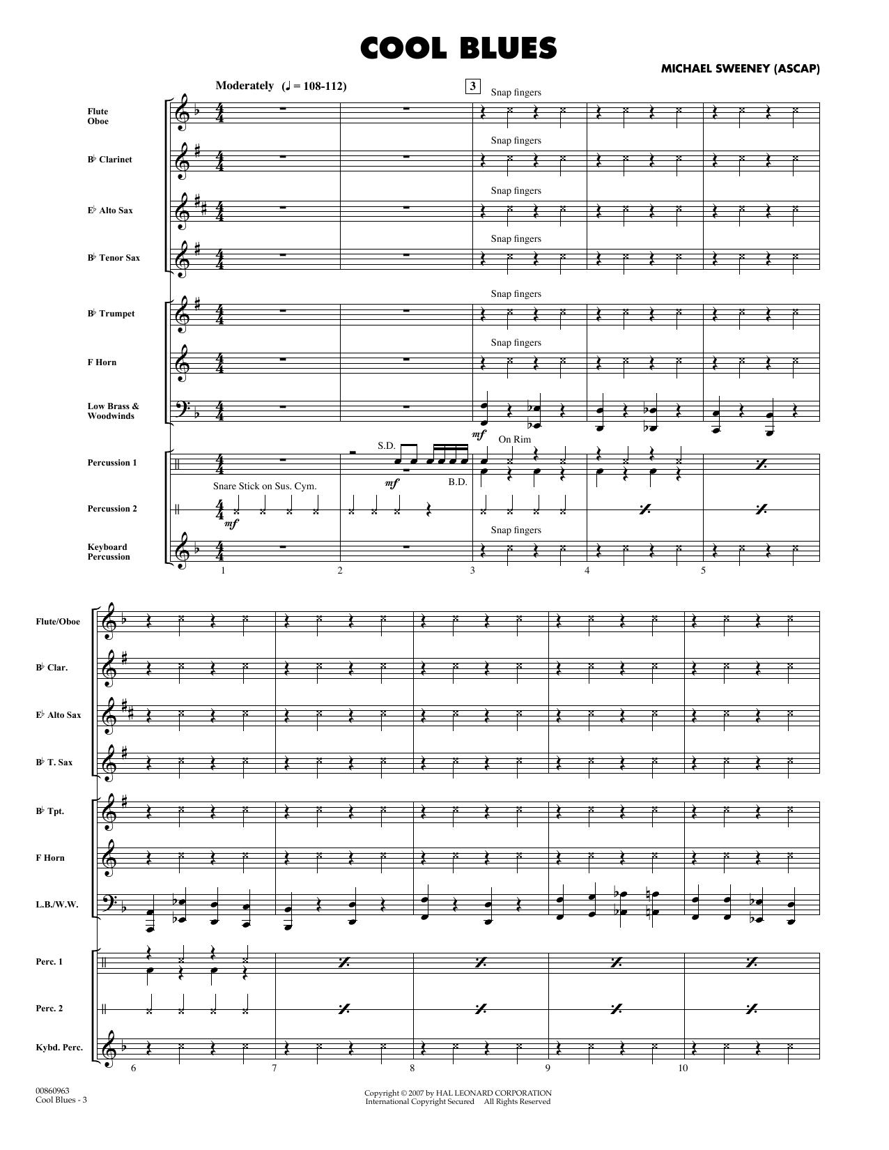 Cool Blues - Full Score sheet music