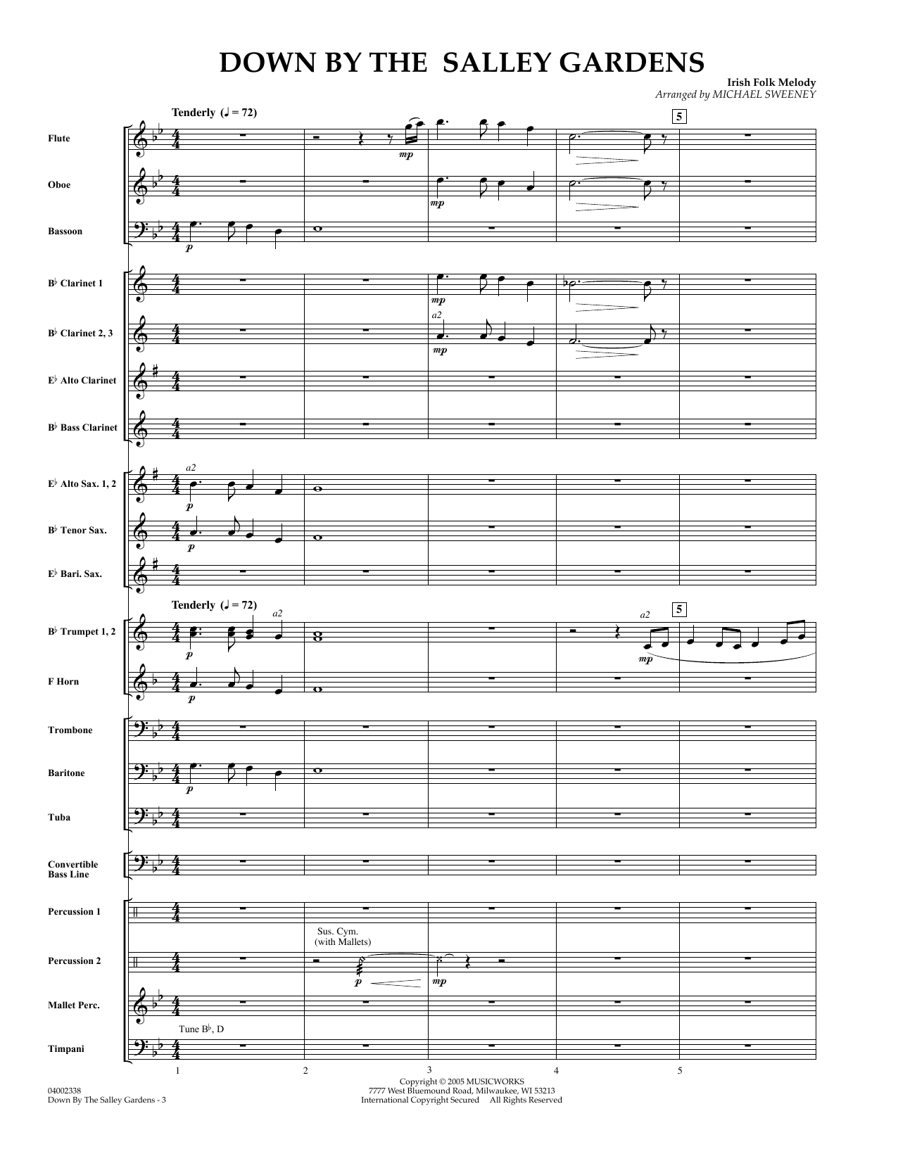 Down by the Salley Gardens - Full Score sheet music