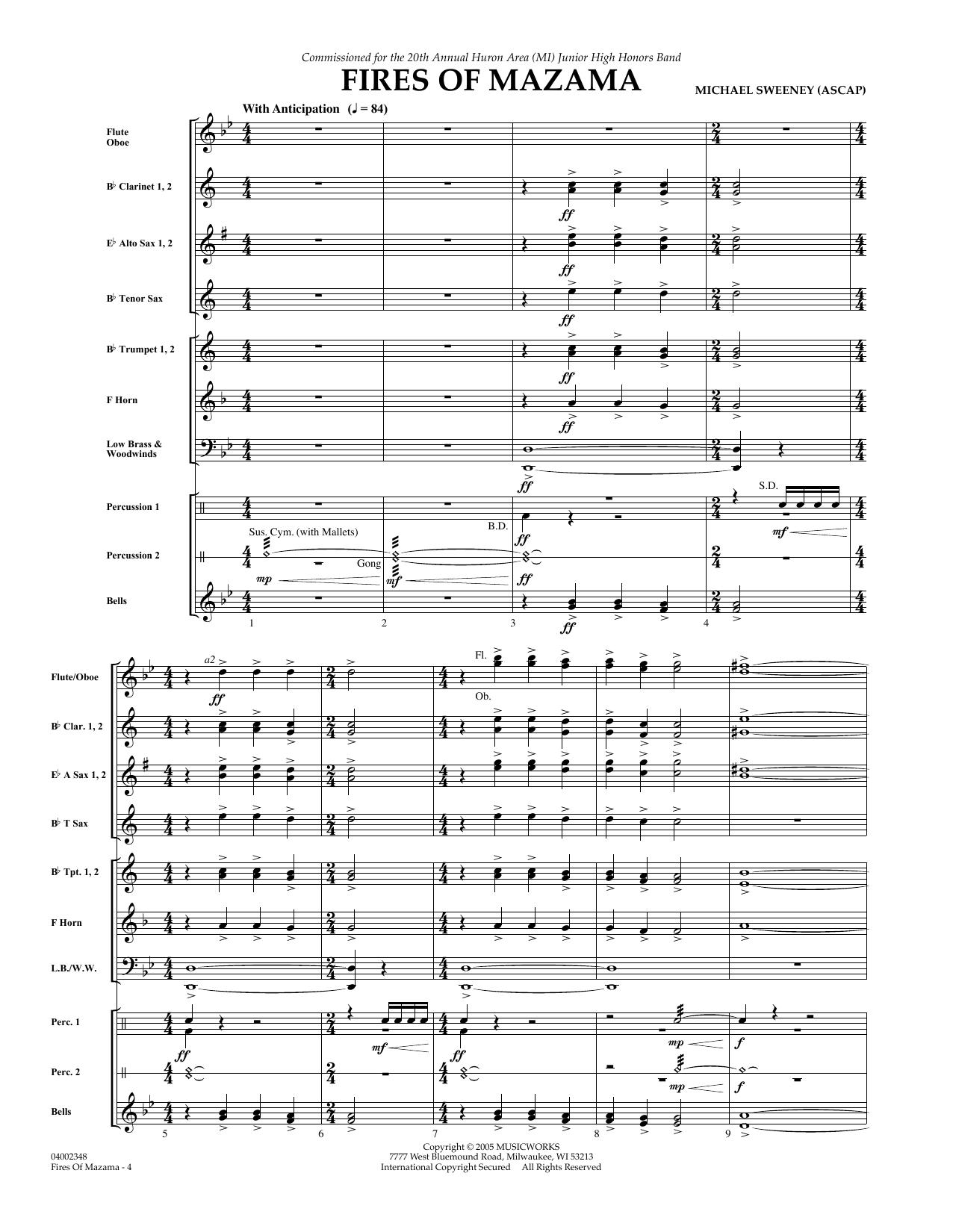 Fires of Mazama - Full Score sheet music