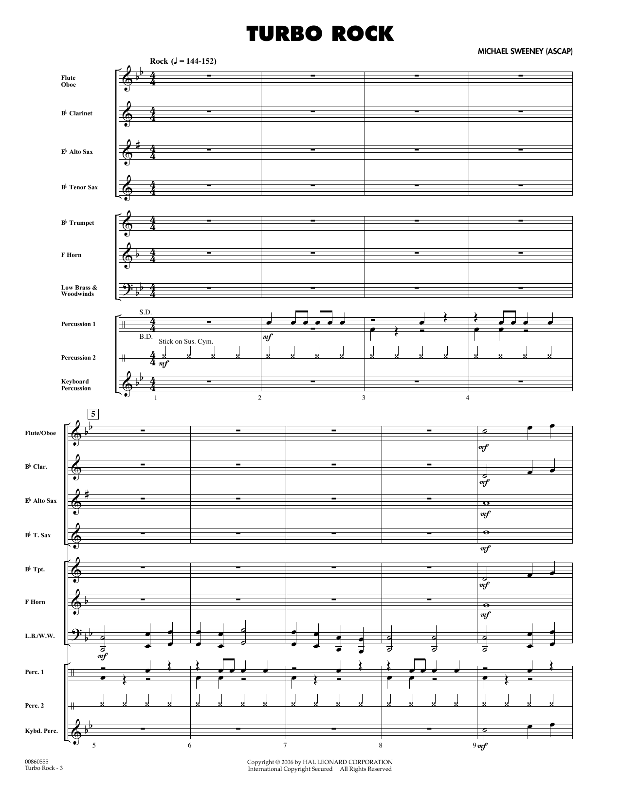 Turbo Rock - Full Score sheet music