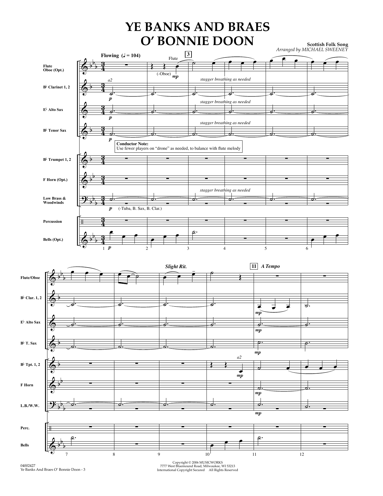 Ye Banks and Braes o' Bonnie Doon - Full Score sheet music