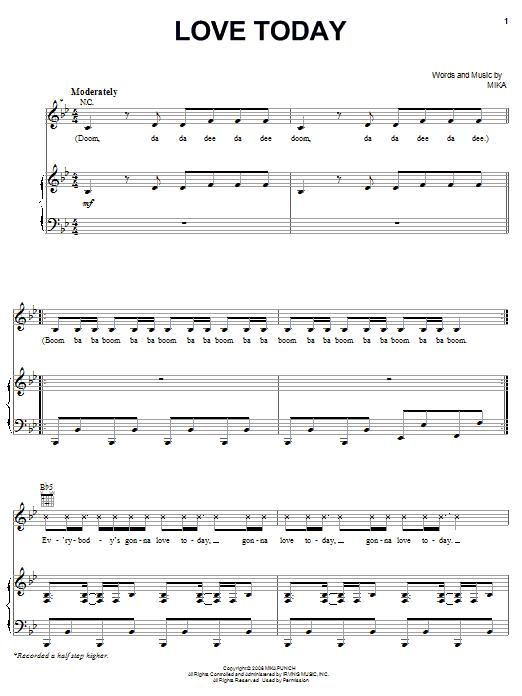 Love Today sheet music