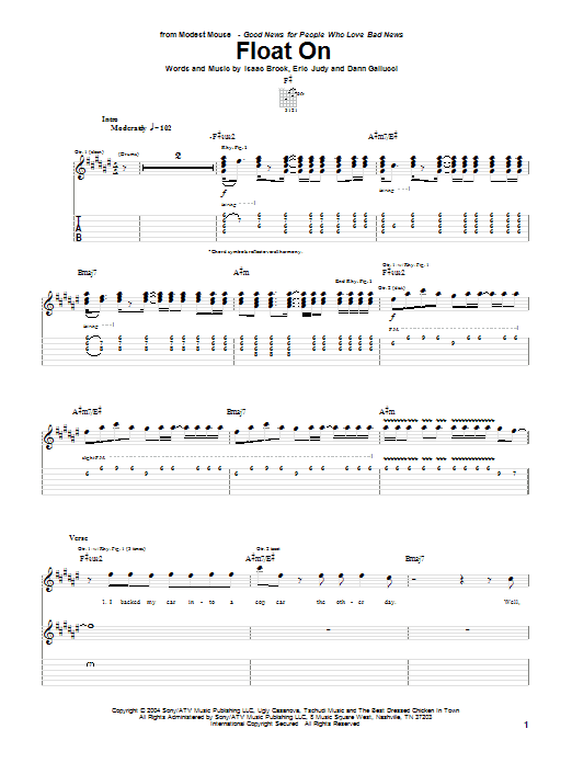 Float On sheet music
