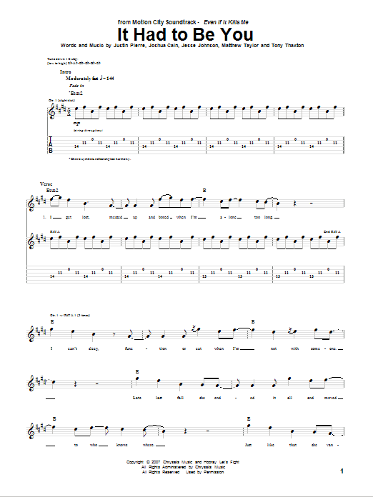 It Had To Be You sheet music