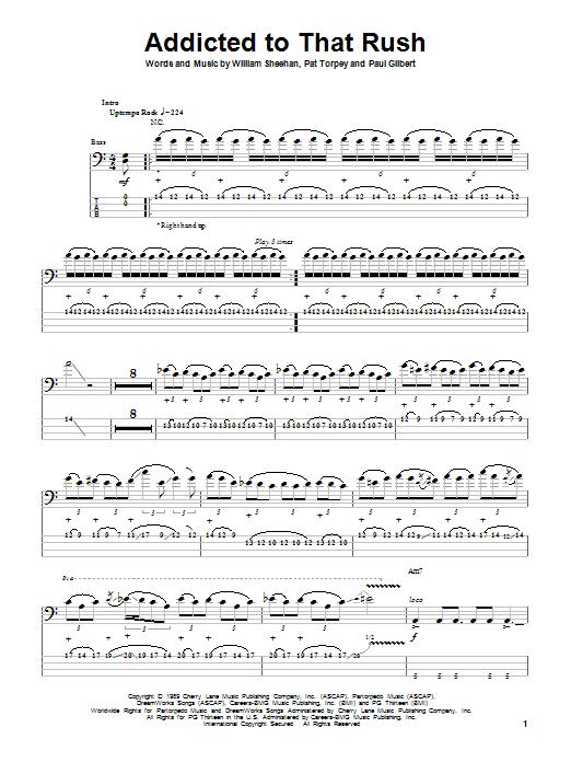 Addicted To That Rush sheet music