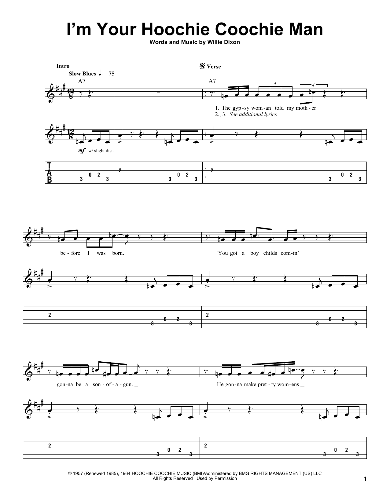 I'm Your Hoochie Coochie Man sheet music