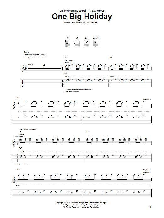 One Big Holiday sheet music