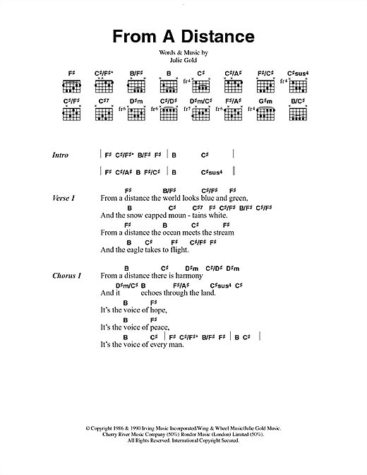 From A Distance sheet music