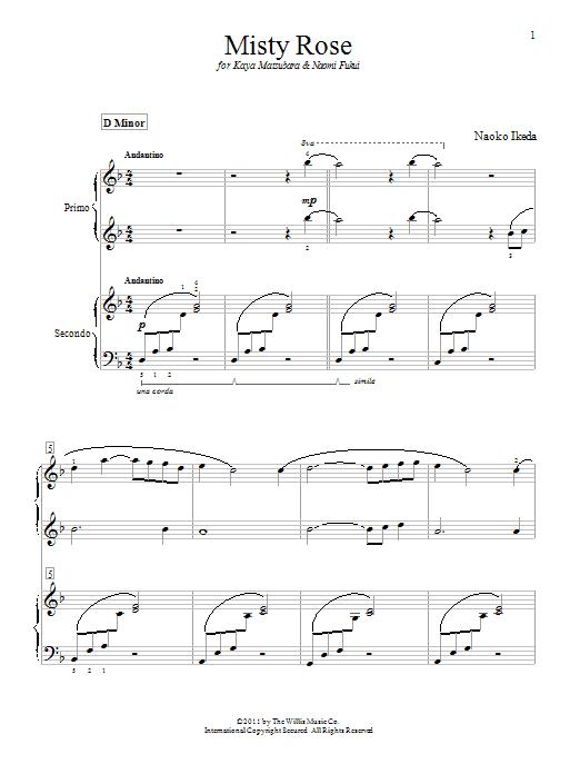 Misty Rose sheet music