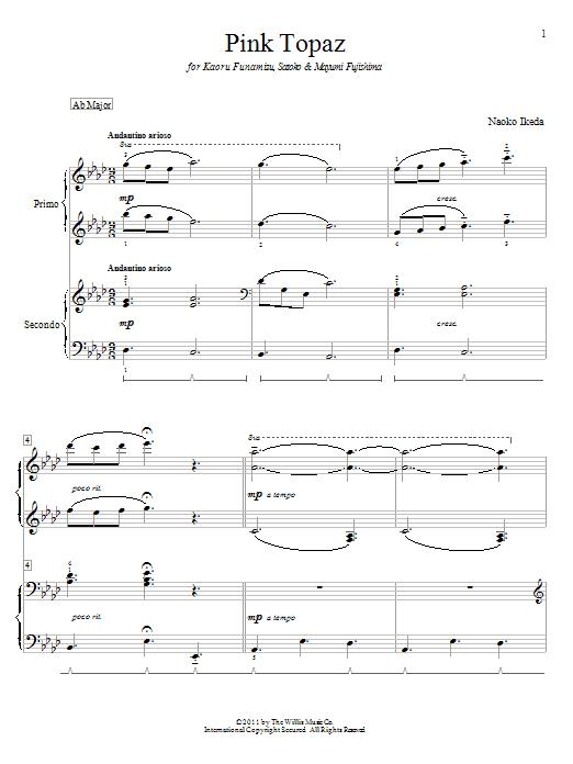 Pink Topaz sheet music