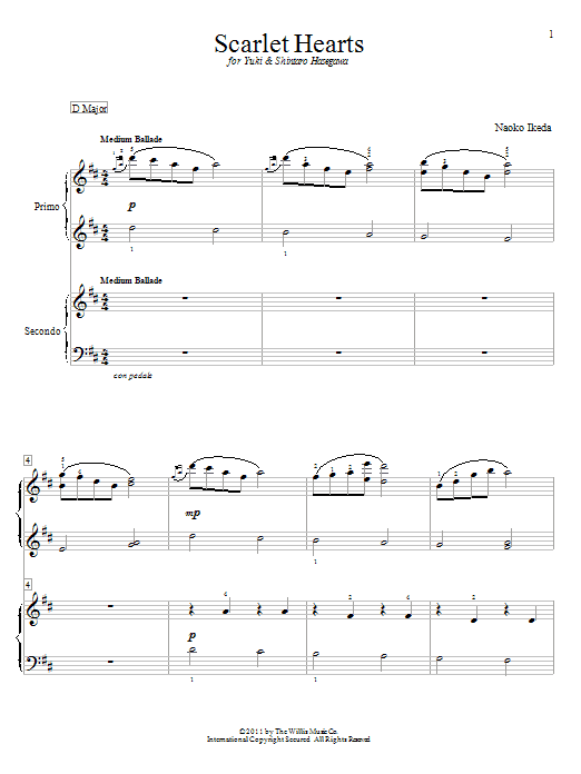 Scarlet Hearts sheet music