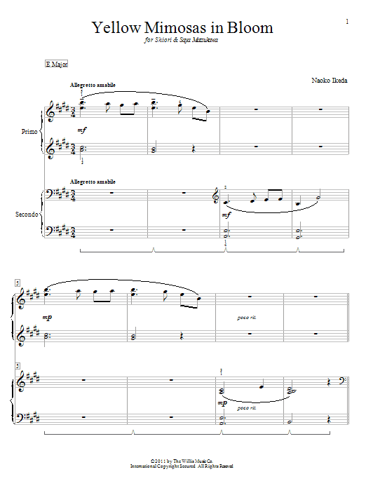 Yellow Mimosas In Bloom sheet music