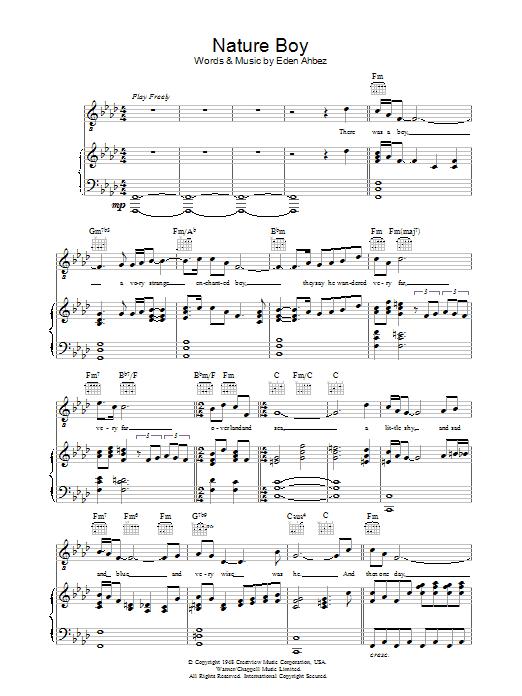 Nature Boy sheet music